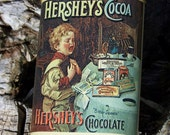 Vintage Collectible Hershey's Cocoa Chocolate Tin Showing Child Scene