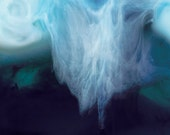Abstract Photograph Ink and Water Digital Download deep blue sea abstract print fine art photography  ocean wall art
