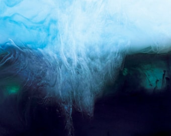 Abstract Photograph Digital Download Ink and Water deep blue sea abstract print fine art photography ocean wall art