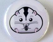 Chubby Semi White Dwarf Hamster Pinback Button