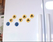 Legend of Zelda Magnets - Ocarina of Time Music Notes Magnet Set (9 magnets)