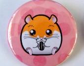Syrian Hamster Poka Dot Pinback Button