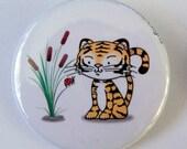 Tiger and Ladybug Pinback Button
