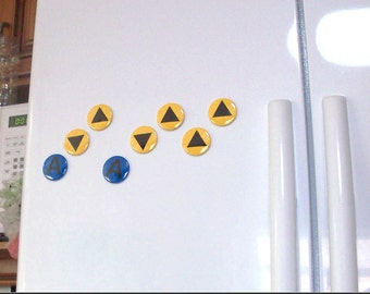 Legend of Zelda Magnets - Ocarina of Time Music Notes Magnet Set (9 magnets) geek video game fan of the triforce and nintendo