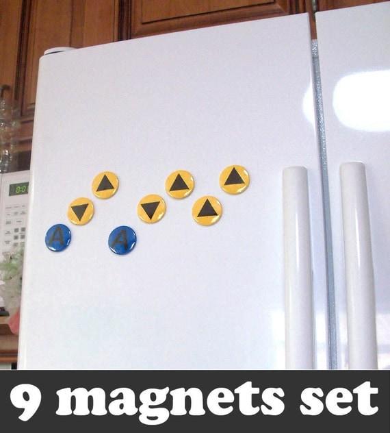 Legend of Zelda Magnets - Ocarina of Time Music Notes Magnet Set (9 magnets)