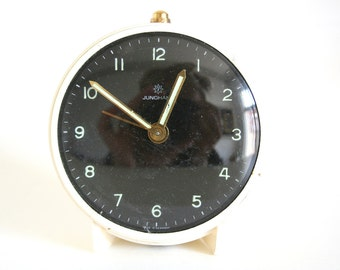 Collectible vintage small cream JUNGHANS alarm clock Made In Germany