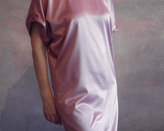 Ellegant pink atlas tunic, dress