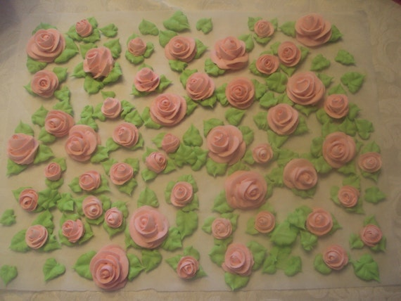 Cake Decorating Icing Roses : Premade Flowers ROYAL ICING ROSES For Cake Decorating or