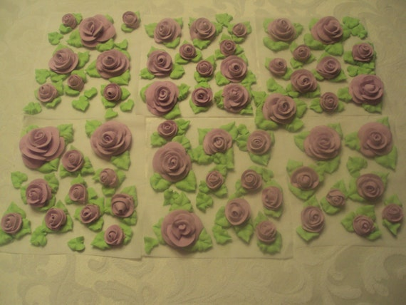 Cake Decorating Pre Made Icing : Premade Flowers ROYAL ICING ROSES For Cake Decorating or