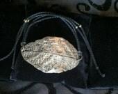Mayana Clay Gold Leaf Tie Bracelet