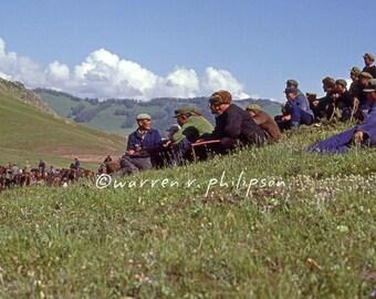 8x10 Photograph: Rodeo Spectators, Altay, Northwest China