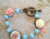 Children's/girl's rose bracelet