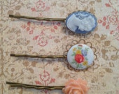 Collection of 3 vintage inspired bobby pins
