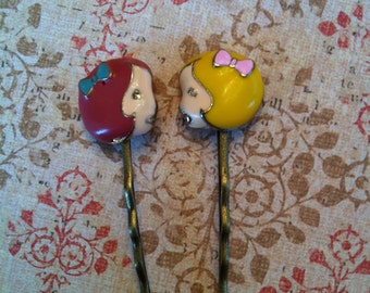 Brunette and blonde doll bobby pins