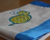 Organic Fleece Baby Blanket - Snail