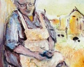 "Art Oil Painting ""Grandma'Stories"""