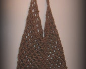 Jute bag/ purse/ tote with long handle