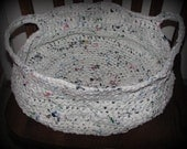 Crocheted Basket...Made of recycled plastic