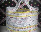 Colorful Plarn Handbag (Made of recycled plastic)