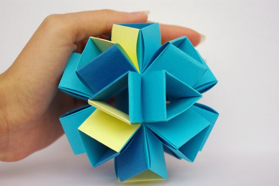 Christmas ornament - Origami paper ball  - My little angel