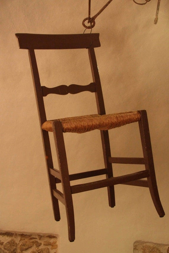 RESERVED FOR DW Rustic Italian wooden dining chairs