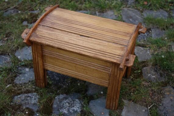 Hand made vintage wooden storage box
