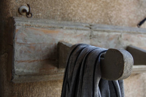 Vintage Italian wooden coat hooks