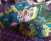 """3 YARDS - 1"""" Spongebob Squarepants Grosgrain Ribbon"""