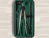 Green Compass Box iPhone Case iPhone 4/4S Case - iPhone 5/5S Case - iPhone 5C Case