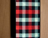 Red checker Fabric iPhone Case / Fits iPhone 4, 4s