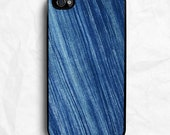Blue Fabric Print iPhone Case - Fits iPhone 4, 4S