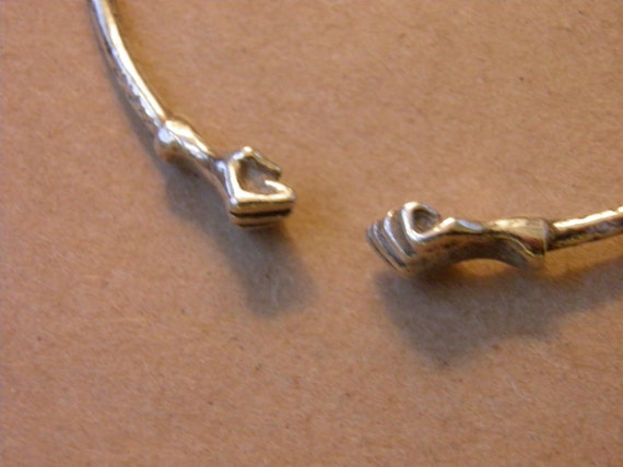 African Style Silver Bangle, with Fists