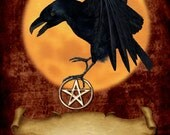 Raven Stationary Spell Pages Book of Shadows Insert Wicca