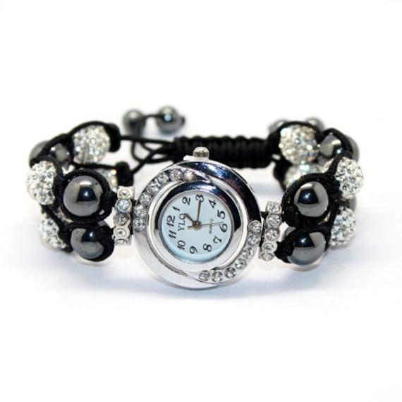 SALE Shamballa Style Bracelet Watch With Crystal Balls Free shipping