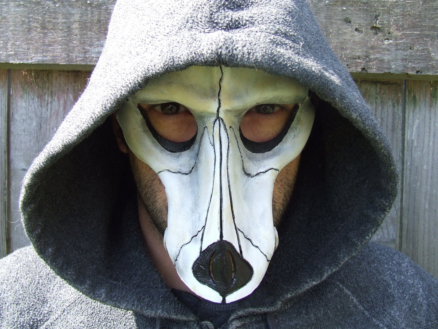 Wolf Skull Leather Mask