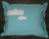 Organic Blue Sky with White Clouds 12 x 16 inch Pillowcase