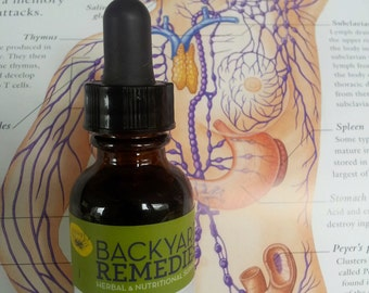 Lymphomaniac  1oz. - a mover and shaker. wild crafted herbal tincture.