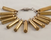 """RESERVED FOR ALI-Bullet Charm Bracelet- """"Gun Runner"""""""