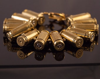 """Unisex Bullet Bracelet-""""The Rambo""""- Edgy, Tough, and cool all in one stunning piece-Custom fitted for you"""