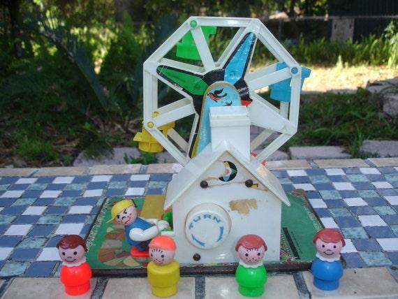 Fisher Price Ferris Wheel, toy music box, vintage, 1964,