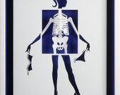 BE AND RELEASES - Paper cut and paper sculpture - photographic reproduction art card