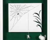 HUNGER AND END - Paper cut and paper sculpture - photographic reproduction art card