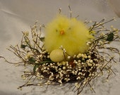 Spring Chick Berry and Twig Centerpiece