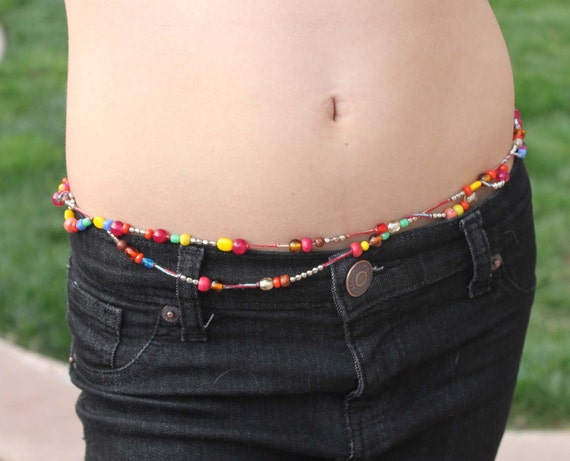 Belly Chain - Beaded, Multi Colored