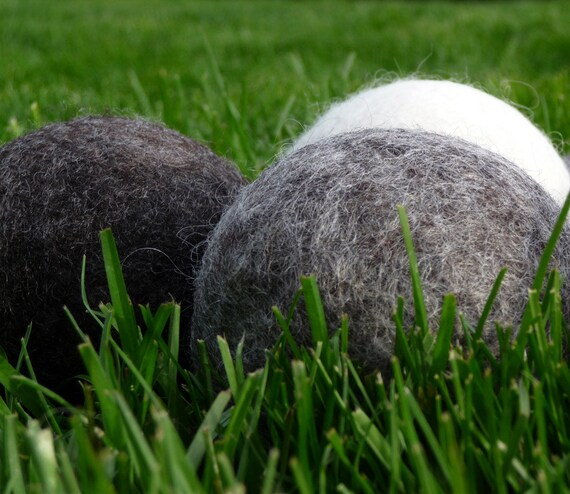 3 Wool Dryer Balls EXTRA LARGE Natural Pure Wool Non Dyed Organic Eco Friendly Scented or Unscented for Laundry