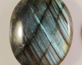 Labradorite Cabochon Oval 24x19x6mm Natural Semi Precious Gemstone Cabochon with Blue Flash 1 Piece