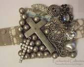 """Reserved for Aoife.............The """"HOLY SILVER"""" Bracelet -  from the Enchanted Collection - Crosses, beads and charms"""