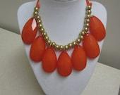 Drops of Jupiter Necklace in Auburn Orange