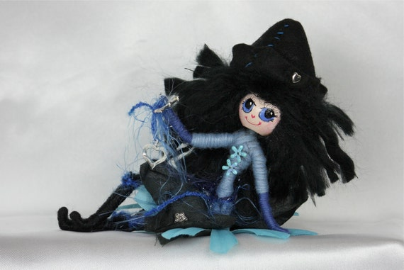 Handmade Doll Fairy OOAK (One Of A Kind) Art Doll Fantasy Faerie Wild Elf