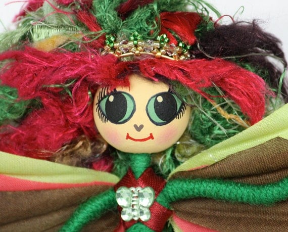 Fairy Art Doll OOAK One Of A Kind Handmade Fantasy Faerie Girl Spring Time Fun